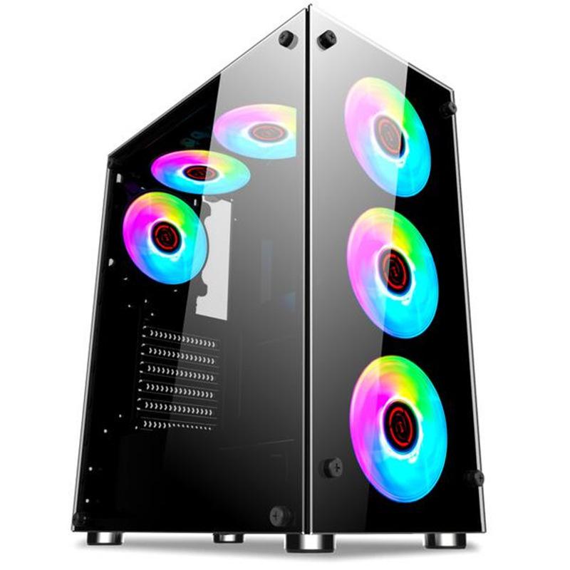 KEDIYA Cordia Hyun Shadow desktop computer host side through double-sided glass under-mounted power