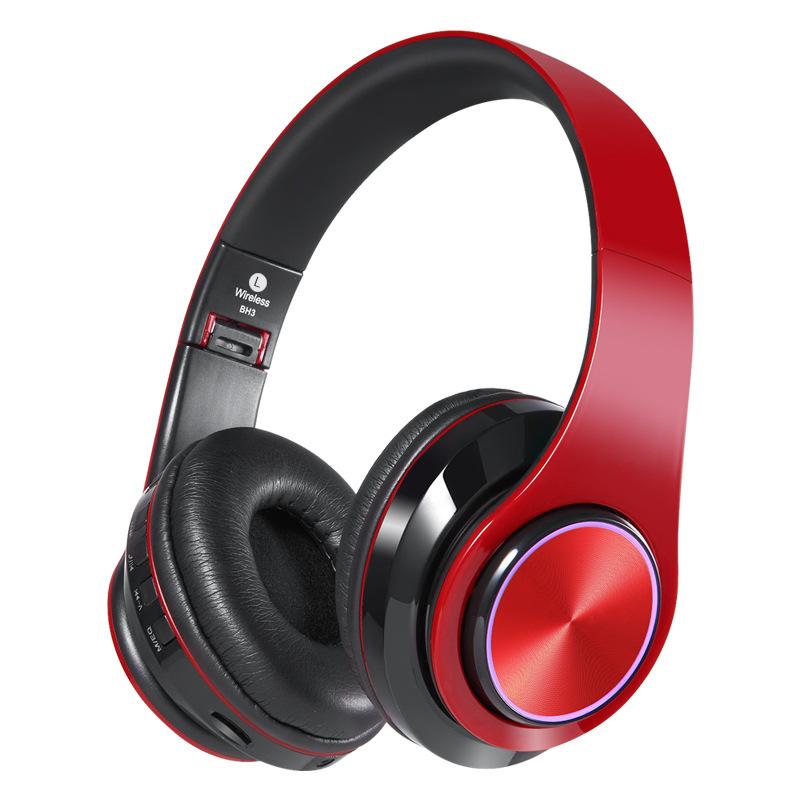 QNB Luminous headset wireless bluetooth sports headset folding headset stereo running mobile phone b