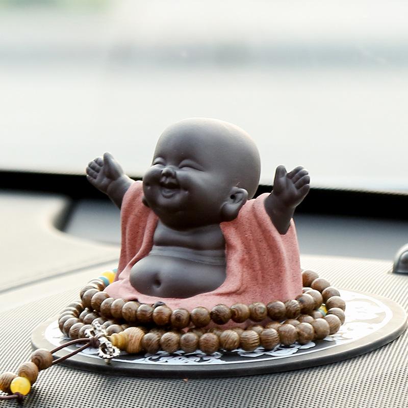 JUSHUNYUAN Thị trường đồ trang trí xe hơi Trumpet Lucky Maitreya Trang trí xe hơi Chúc mừng Đức Phật