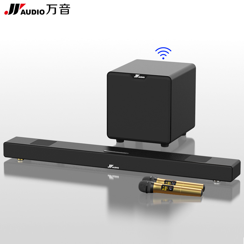JYAUDIO 2020 New Wanyin Home Theater TV Audio 5.1 Sound Blaster Echo Wall Soundbar Subwoofer Wireles