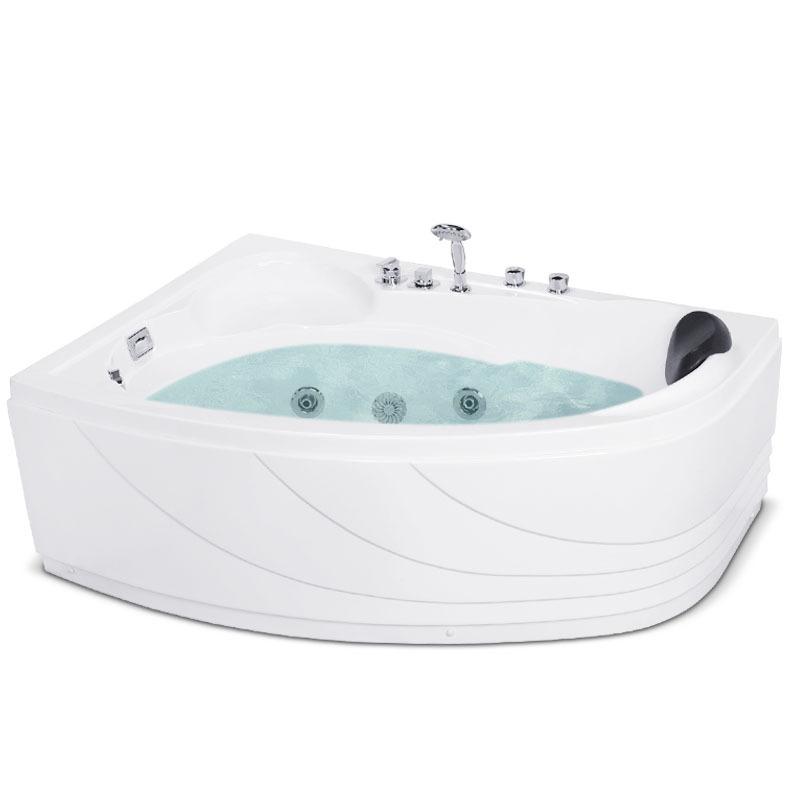 Bồn tắm massage đa năng màu trắng dành cho căn hộ