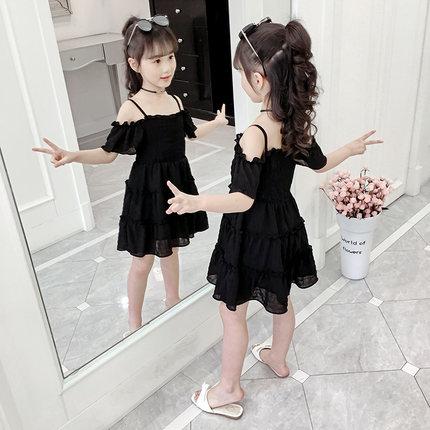 Trang phục trẻ em mùa hè  Váy bé gái 2020 váy hè mới cho bé mặc váy công chúa 7 tuổi bé gái lưới đỏ