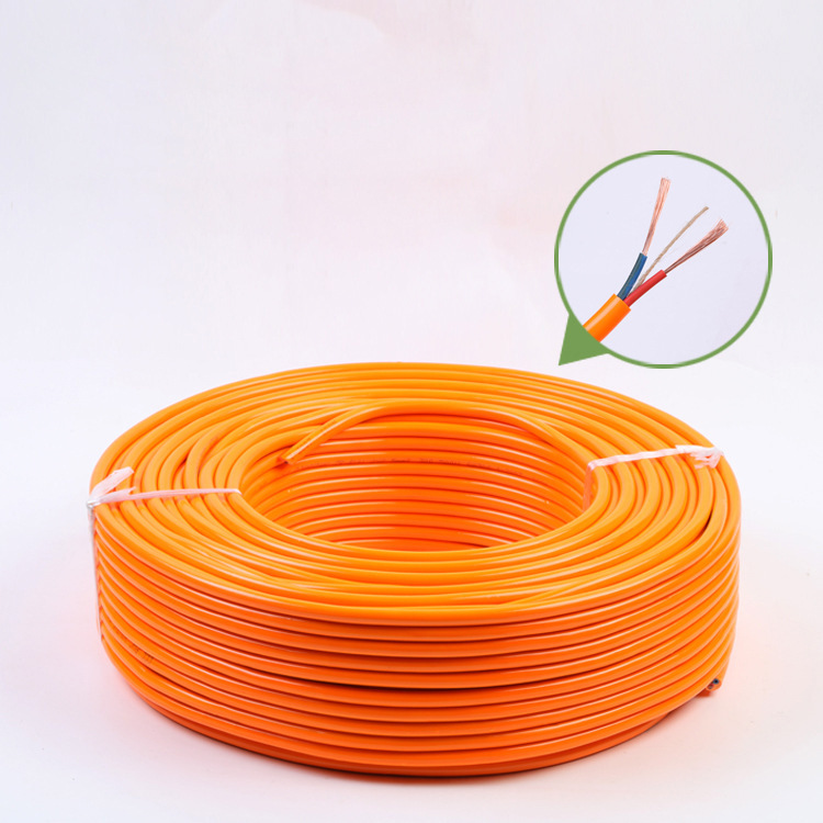 YOUXIN RVV2x2.5 copper-clad aluminum wire yellow cable two-core power cord wire high-power drag stri