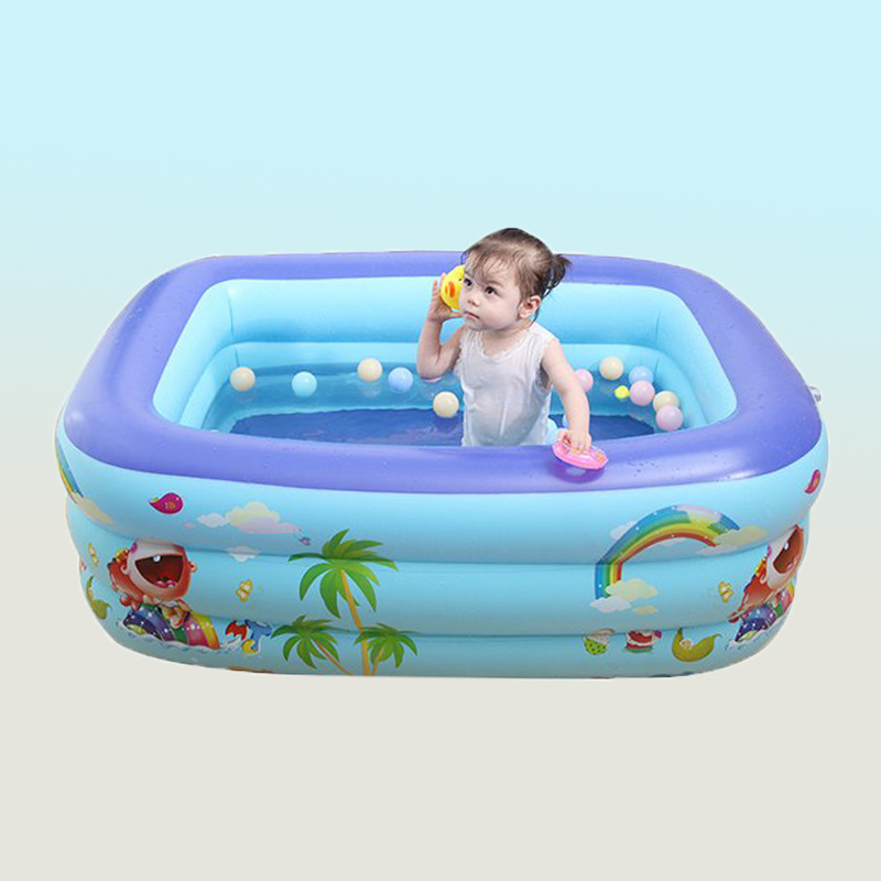 bể bơi trẻ sơ sinh Bể bơi bơm hơi nhà dày trẻ em bể bơi bơm hơi em bé bể bơi trẻ em bể bơi mái chèo