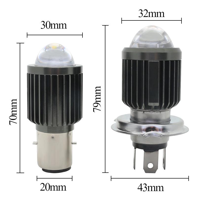 RUIHONG đèn xe Nhà máy trực tiếp xe máy LED đèn pha H4 ống kính đèn pha xa và gần ánh sáng tích hợp