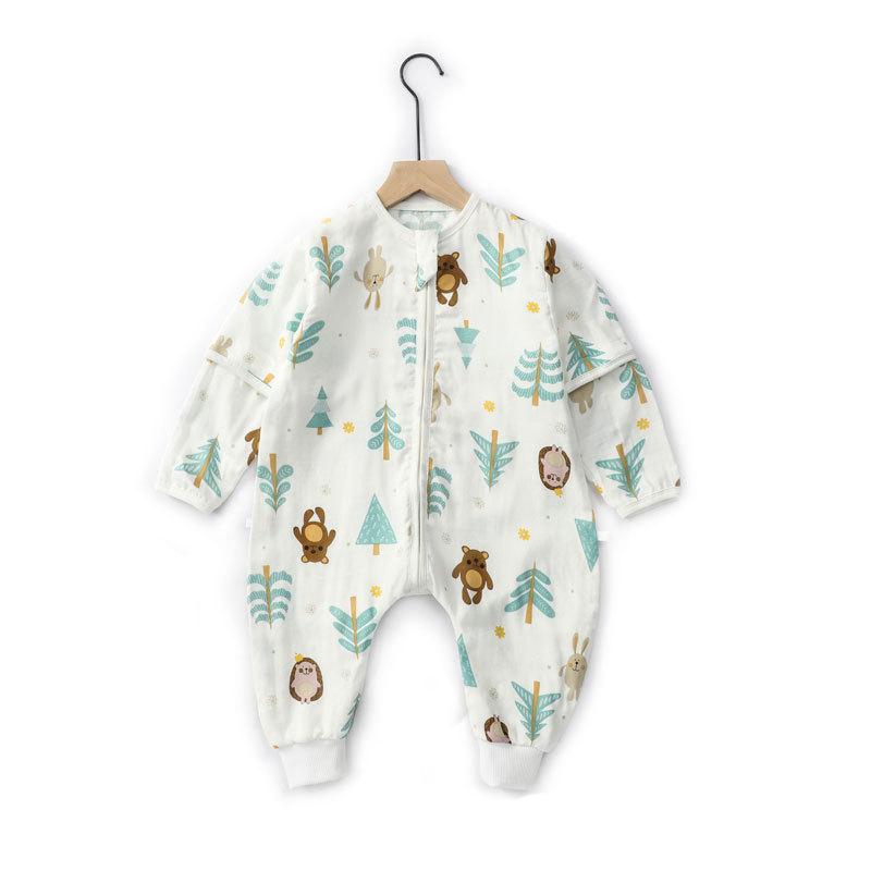 BEICHANGCHANG Túi ngủ trẻ em Túi ngủ cho bé mùa xuân hè hè bằng sợi tre mỏng gạc chẻ đôi chân bé chố