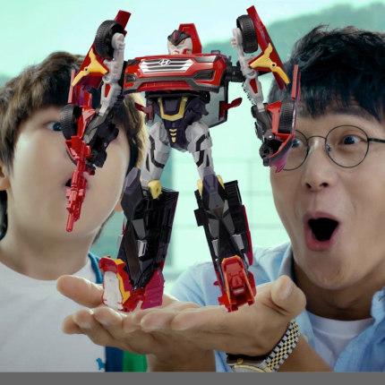 Rôbôt  / Người máy  Xe chính hãng Kabao God Ace Trình điều khiển biến dạng Robot Xe trẻ em Đồ chơi T