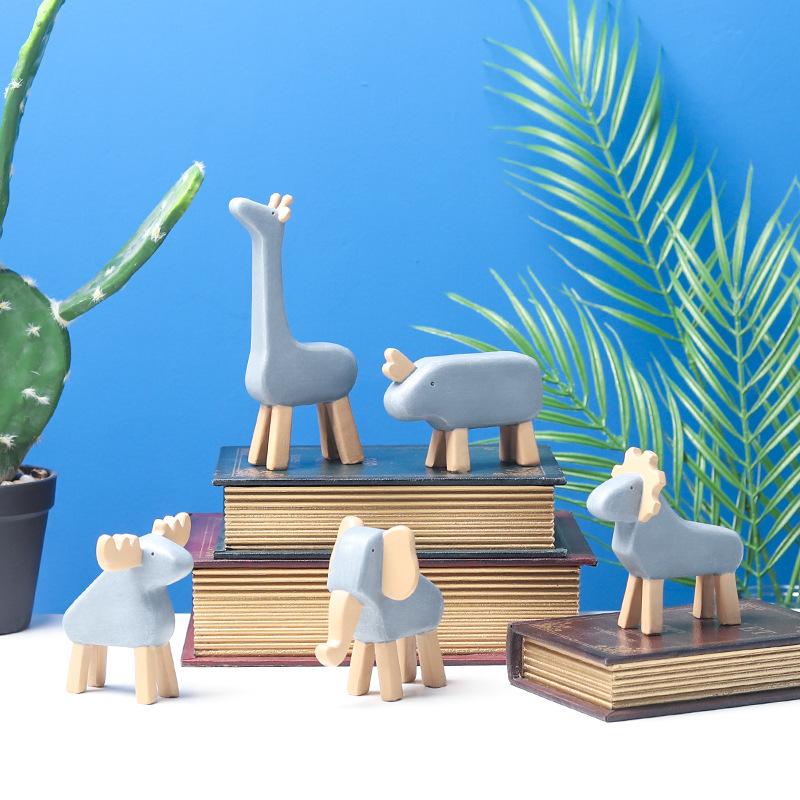 SHANGFEIGE Cảnh quan Mini Nhà máy trực tiếp sáng tạo phim hoạt hình đồ trang trí nhựa động vật, tran
