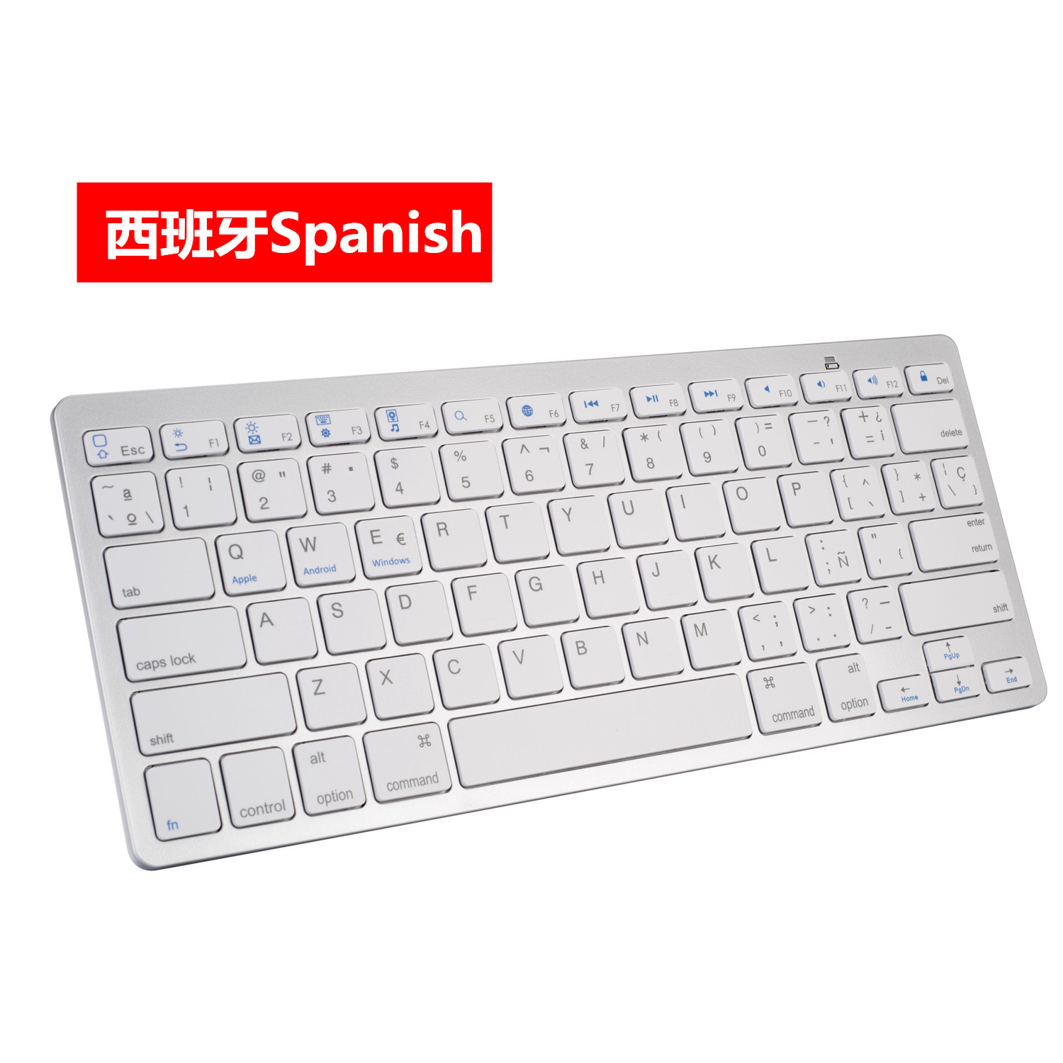 X5 Spanish German Russian French Korean Arabic Tablet iPad Universal Bluetooth Keyboard