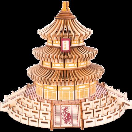 Tranh xếp hình 3D Mô hình 3d ba chiều bằng gỗ lắp ráp trẻ em và người lớn giải nén lớn và xây dựng t