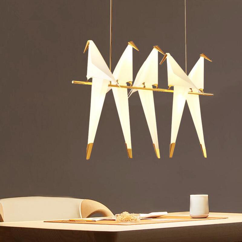 MINGLAN Nordic creative bird chandelier restaurant cafe post modern living room thousand paper crane