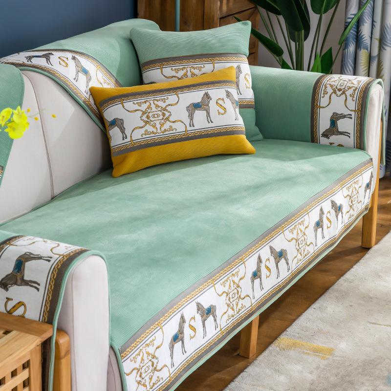 QISILOVE Sofa cushion Nordic simple style sofa cover four seasons universal sofa cover cloth towel n
