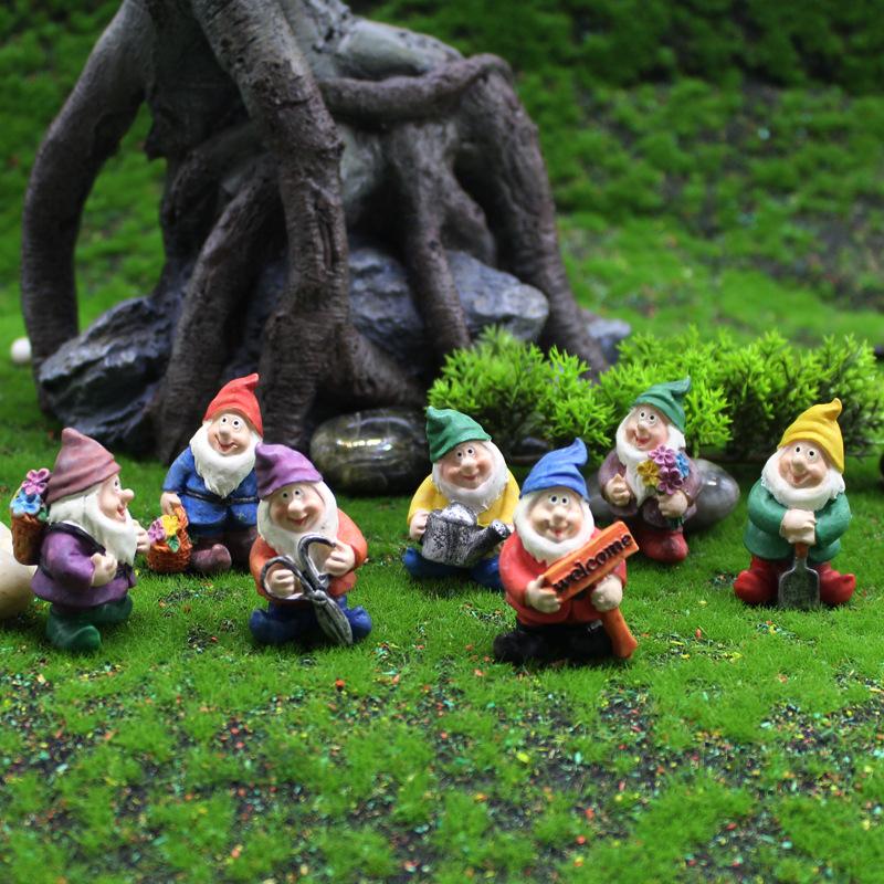 YIZUN Cảnh quan Mini Rêu vi cảnh trang trí sân vườn lùn đồ trang trí ngoại thương nhựa thủ công nhân