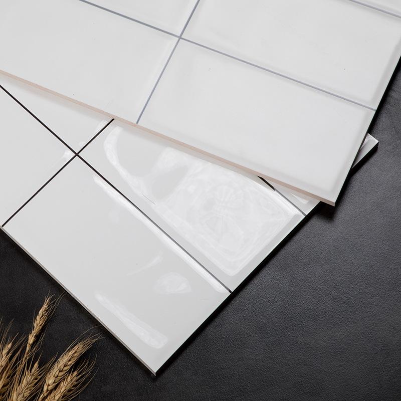 XIMANG Nordic small white brick kitchen wall brick toilet bread brick bathroom tile 300x600 wall bri