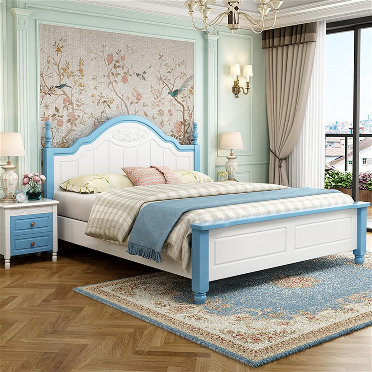 Mỹ trẻ em giường cậu bé công chúa giường giường giường 1.5m tất cả trẻ em giường bằng gỗ ổn định 1.2