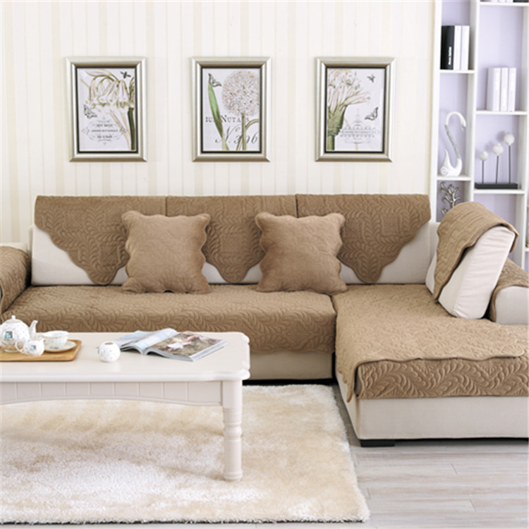 Winter short plush sofa cushion fabric four seasons simple modern cushion living room combination le