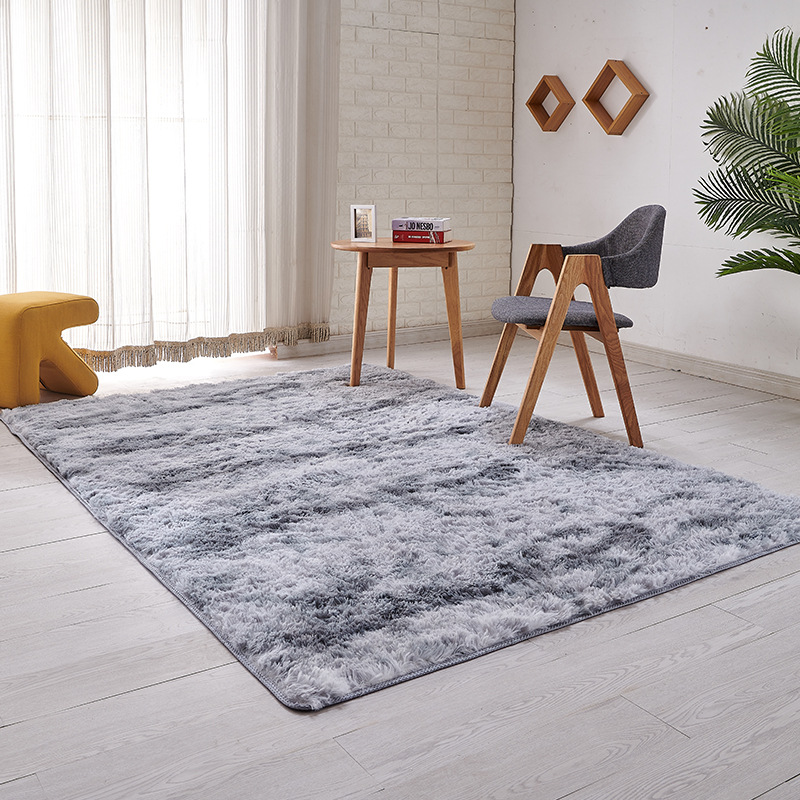 SUNJACKIE Carpet living room variegated tie-dyed carpet silk wool coffee table Nordic long-haired be