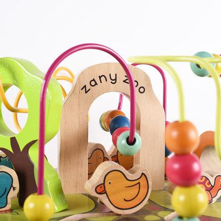 Đồ chơi bằng gỗ  Beile btoys vòng hạt kho báu trẻ em đồ chơi đính hạt bé sơ sinh trí thông minh tứ d