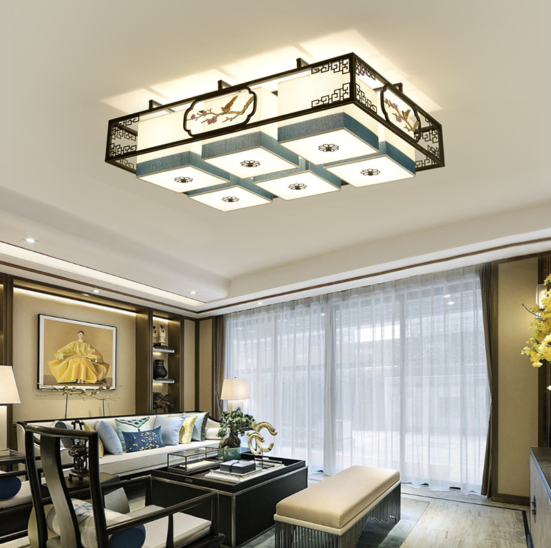 2019 new led new Chinese style ceiling lamp creative art Chinese style living room lamp bedroom dini