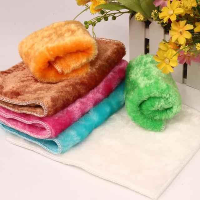 HUANLV Wood fiber dish cloth wholesale Korean wood fiber decontamination non-stick oil rag dish towe