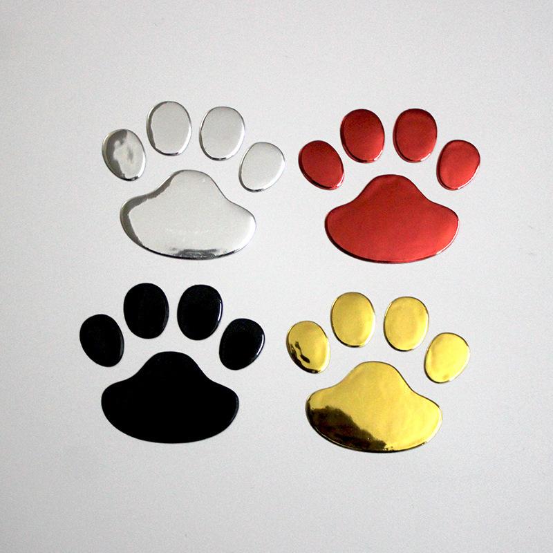 CHEYIFANG Đề can xe hơi Thân xe Nhãn dán PVC Dấu chân xe Nhãn hiệu Gấu con chó con Dấu chân Nhãn dán