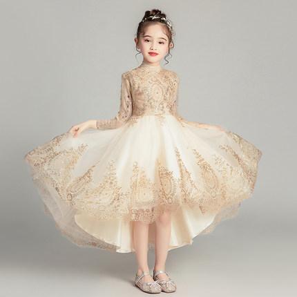 Trang phục dạ hôi trẻ em  Đầm trẻ em công chúa váy cô gái lông bông hoa cô dâu váy cưới cô gái nhỏ c