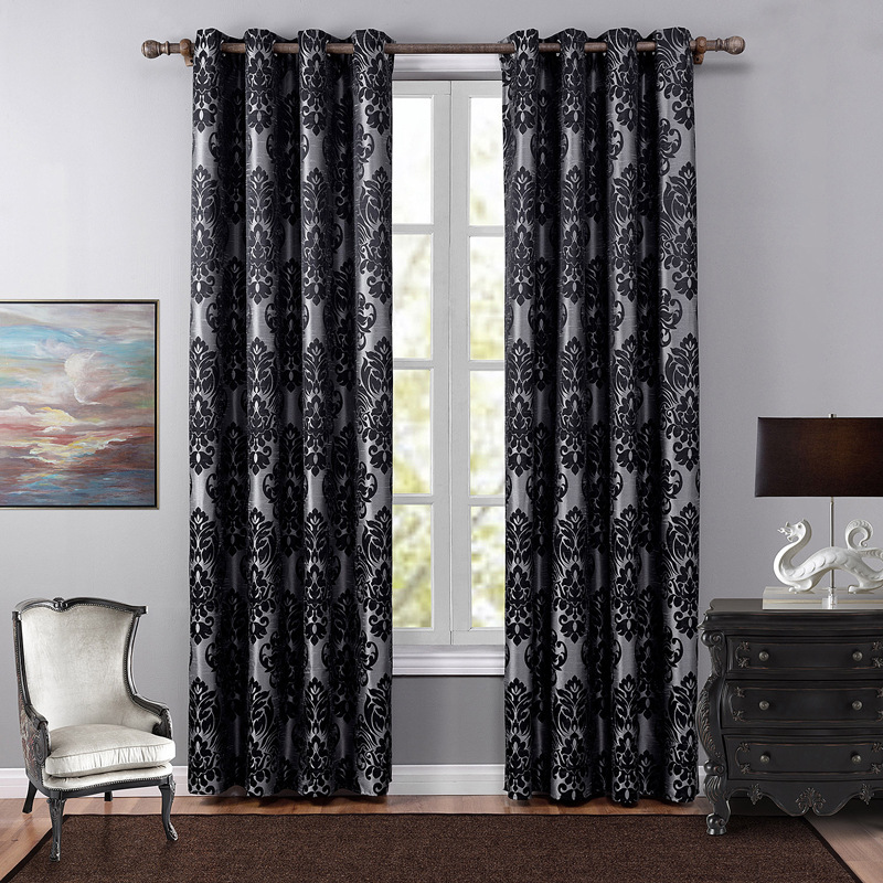 Home Attraction Finished curtains Jacquard curtains