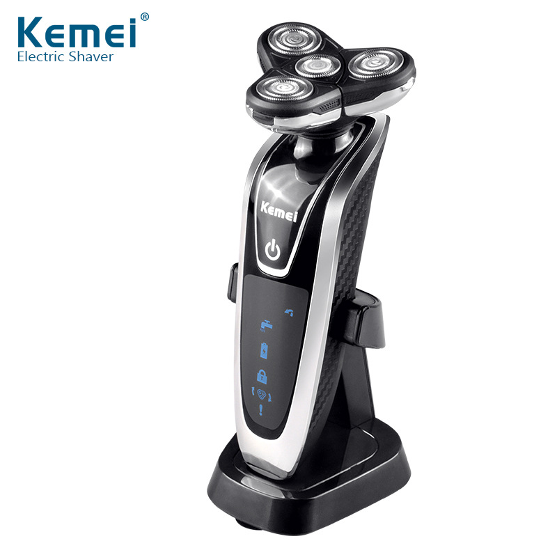Kemei Shaver KM-8871 Washable Rotary Four-head Electric Shaver Shaver