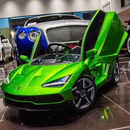 Xe điều khiển từ xa  Lamborghini trẻ em xe điện bốn bánh với xe điều khiển từ xa