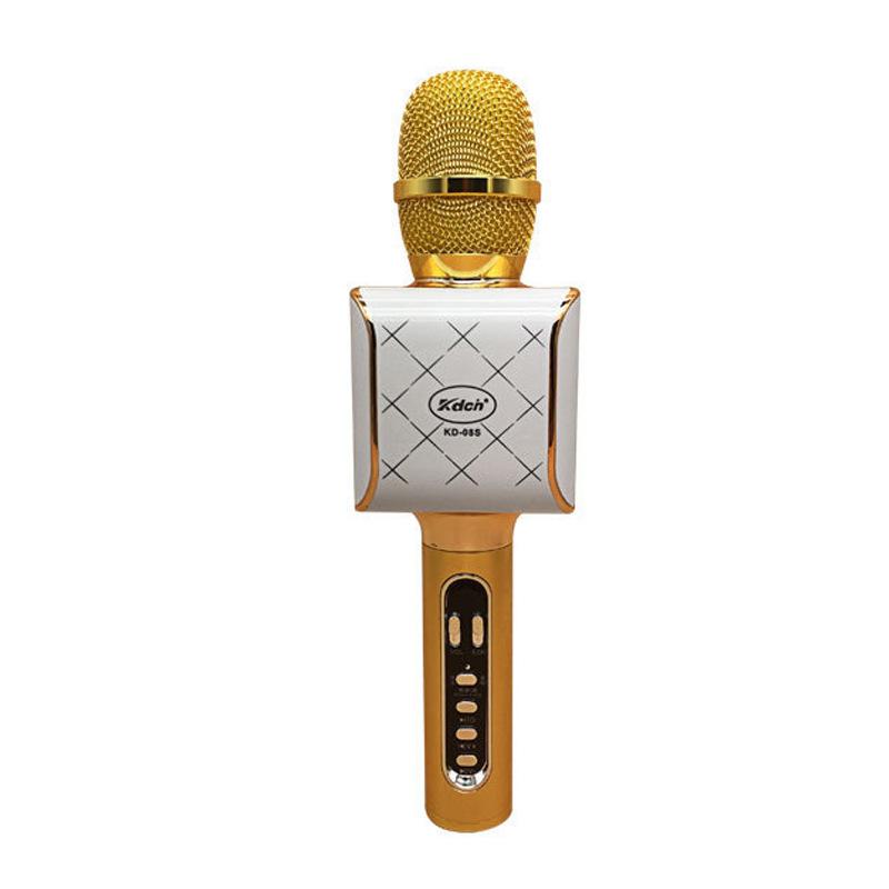 KD-08S mobile phone karaoke microphone with one-key silencer car karaoke treasure KTV singing anchor