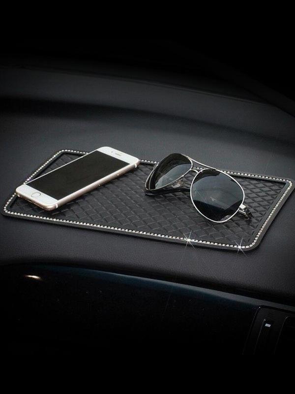 Đệm chống trơn Kim cương xe ô tô chống trượt mat trung tâm lớn bảng điều khiển xe điện thoại chống t