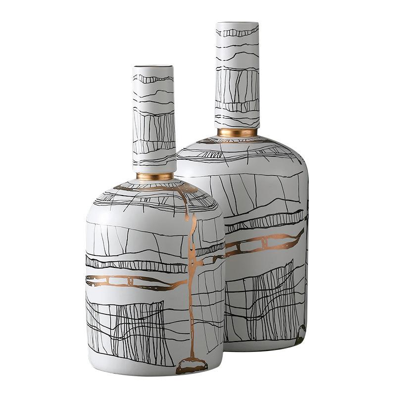 [Best West New Chinese abstract line gốm thổi bốc thiết kế phòng trưng bày đồ mềm mại