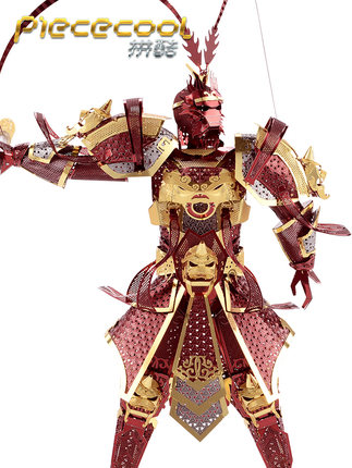Đồ chơi sáng tạo  Pin Cool Monkey King Fight Chèn Mô hình Đồ chơi 3D Câu đố ba chiều Kim loại DIY Qu