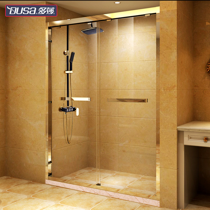 Duosha stainless steel shower room partition custom-made simple dry and wet separation bath room ove
