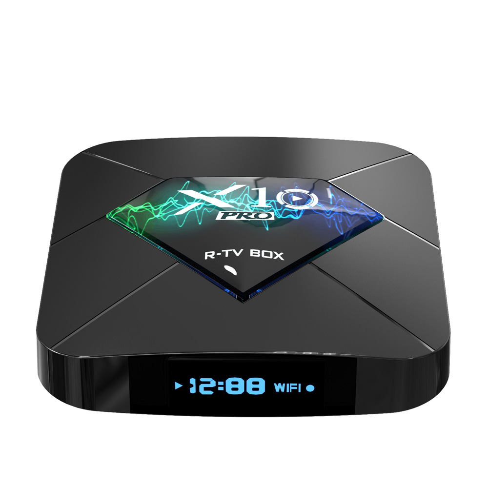 New R-TV BOX X10 PRO STB S905X2 Android 8.1 Network Player 4G+64GB