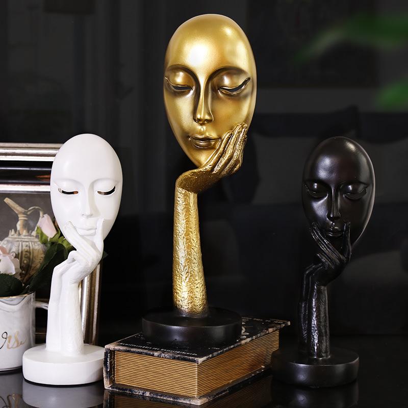 WYMW Đồ trang trí bằng cao su Thời trang cá tính sáng tạo nhựa nghệ thuật trừu tượng phòng khách phò