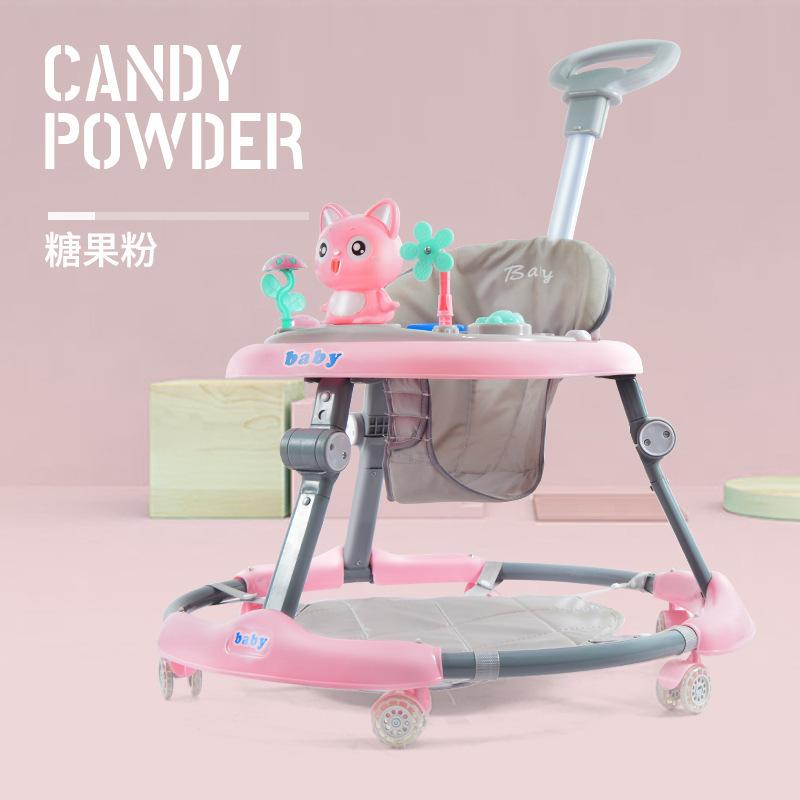 Xe tập đi cho bé chống rollover 6-18 tháng Xe tập đi cho bé gấp đa chức năng có thể đẩy bằng tay