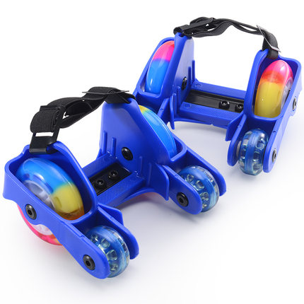 Xe một bánh tự cân bằng  Giày trượt patin công cụ du lịch PU đi bộ bốn bánh Giày bánh xe trẻ em có b
