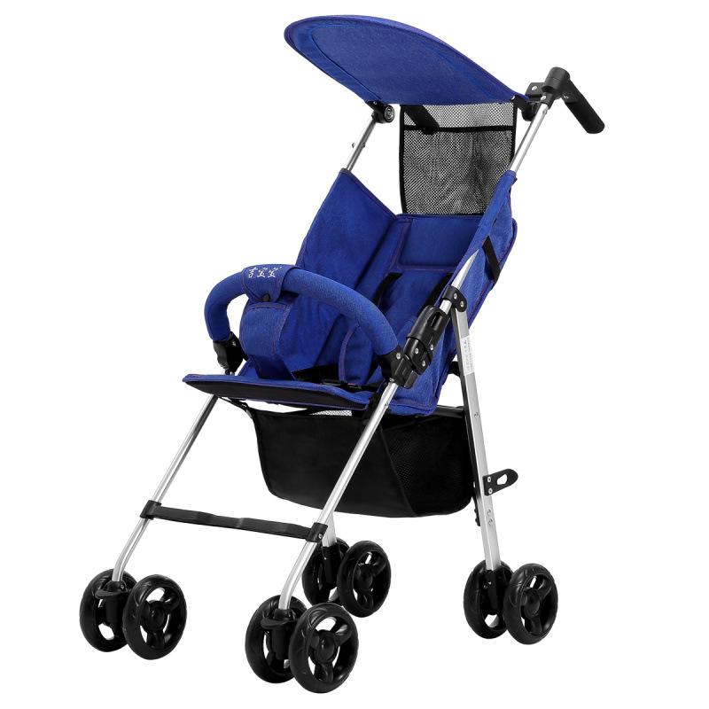 JIBAOBAO Xe đẩy em bé Xe đẩy em bé nhẹ gấp nhôm hợp kim Xe đẩy em bé Xe đẩy em bé