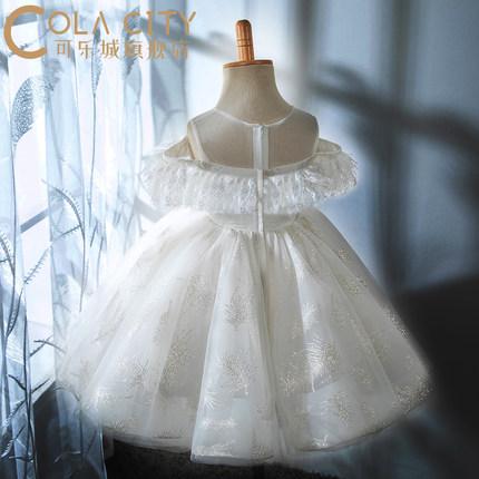 Trang phục dạ hôi trẻ em  Váy hoa bé gái nữ mùa hè trẻ em váy cưới váy bé váy bé gái một tuổi váy cô