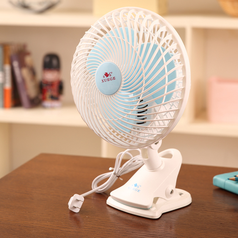 XUEGE Snow pigeon mini electric fan desk top creative household desktop fan student dormitory bed he
