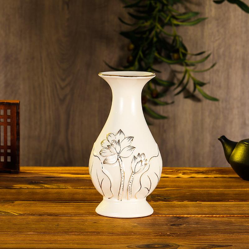 YMJY Đồ trang trí bằng gốm sứ Cho chai phật nghi lễ hộ gia đình trước tượng phật cho bình hoa phật b