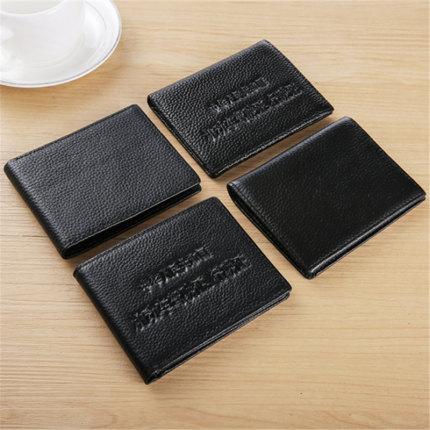 Ví đựng thẻ Ông già đầu thẻ túi nam ví da dài nhiều thẻ bit ví ví thẻ túi dung lượng lớn thời trang