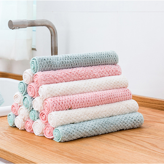 AOXI Household pineapple dish towels thickened absorbent rags housekeeping cleaning cleaning cloth k
