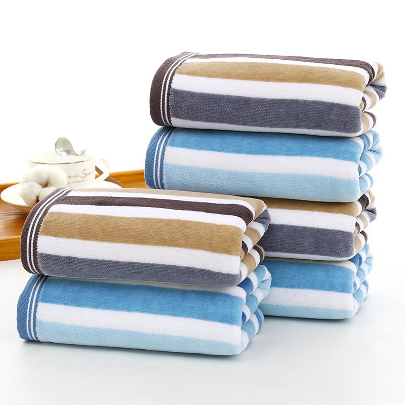 XINUO Pure cotton cut velvet color strip face towel