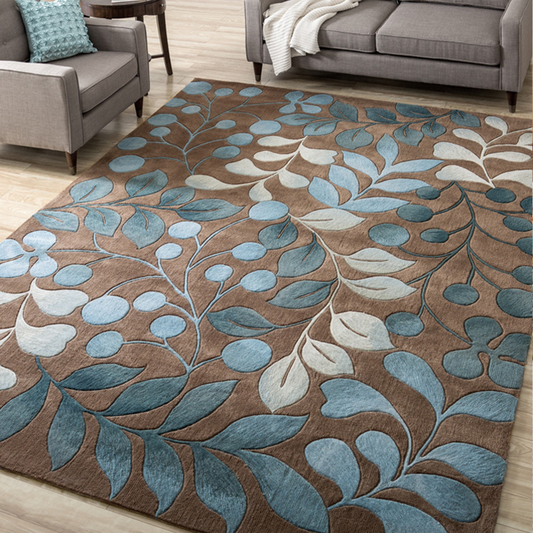 RXON Flowers and plants printed carpet living room modern home sofa coffee table bedroom full bedsid