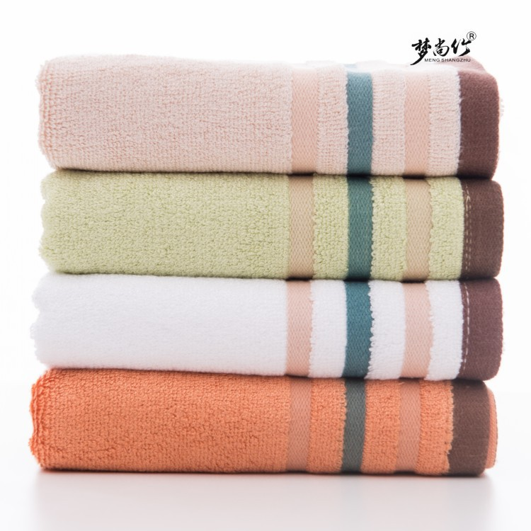 MENGSHANGZHU Thị trường khăn Bamboo fiber towel absorbent soft face towel wash towel gift towel