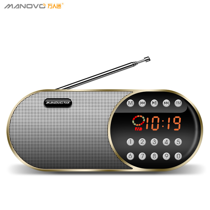 Manovo 2020 hot style heartthrob/F1 elderly radio Walkman portable speaker U disk music player