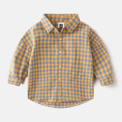 Áo Sơ-mi trẻ em  Áo sơ mi cotton dài tay cho bé trai, quần áo trẻ em, mùa xuân và mùa thu Quần áo tr