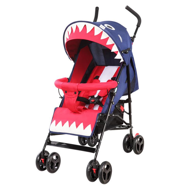 HEBAO Xe đẩy em bé Habao siêu nhẹ xách tay có thể ngồi và nằm xe đẩy trẻ em giảm xóc xe đẩy xe đẩy e